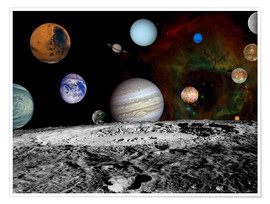 Póster Montage of the planets