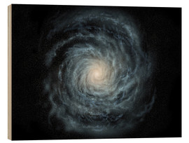 Cuadro de madera  face-on view of the Milky Way - Ron Miller