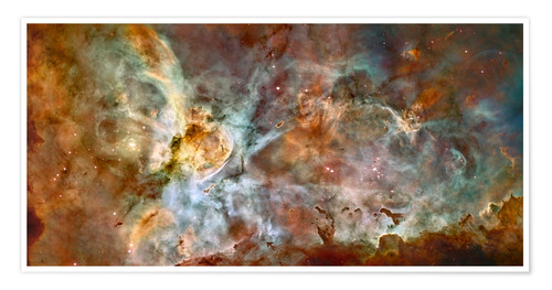 Póster The central region of the Carina Nebula