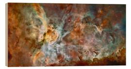Cuadro de madera  The central region of the Carina Nebula - Stocktrek Images