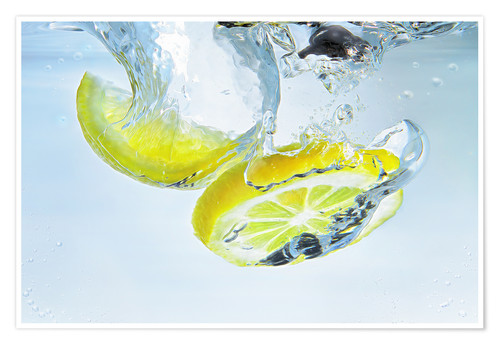 Póster lemon splash