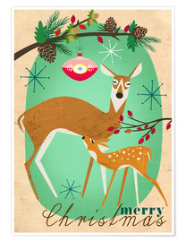 Póster Merry Christmas Deer