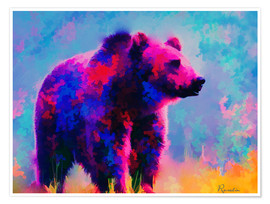 Póster Grizzly Bear