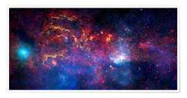 Póster central region of the Milky Way galaxy