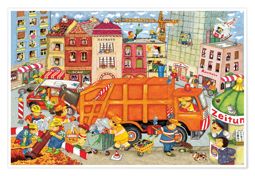 Póster The garbage truck comes