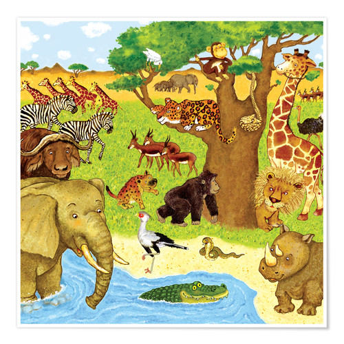 Póster Animals in Africa