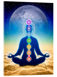 Cuadro de metacrilato  In Meditation With Chakras - Blue Moon Edition - Dirk Czarnota