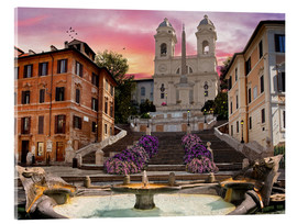 Cuadro de metacrilato  Piazza Di Spagna with the Spanish Steps - Dominic Davison