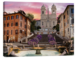 Lienzo  Piazza Di Spagna with the Spanish Steps - Dominic Davison