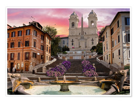 Póster  Piazza Di Spagna with the Spanish Steps - Dominic Davison