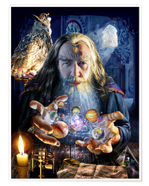 Póster  The wizard's world - Adrian Chesterman