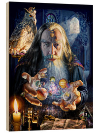 Cuadro de madera  The wizard's world - Adrian Chesterman