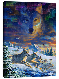 Lienzo  Moonlight Wolfpack - Adrian Chesterman