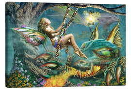 Lienzo  Dragon and fairy swing - Adrian Chesterman
