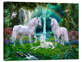 Lienzo  Rainbow Unicorn Family - Jan Patrik Krasny