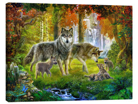 Lienzo  Summer Wolf Family - Jan Patrik Krasny