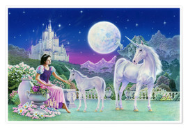 Póster  Unicorn Princess - Feeding foal - Robin Koni