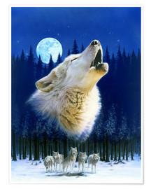 Póster Howling wolf