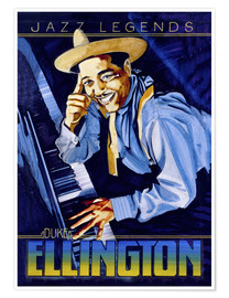 Póster  Duke Ellington - Roger Pearce