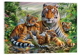Cuadro de metacrilato  Tiger and Cubs - Adrian Chesterman