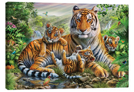Lienzo  Tiger and Cubs - Adrian Chesterman
