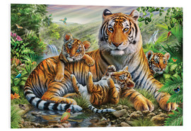 Cuadro de PVC  Tiger and Cubs - Adrian Chesterman