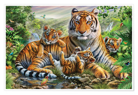 Póster Tiger and Cubs