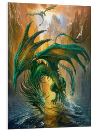 Cuadro de PVC  Dragon of the lake - Dragon Chronicles