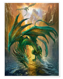 Póster  Dragon of the lake - Dragon Chronicles
