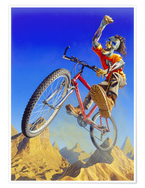 Póster Mountain bike