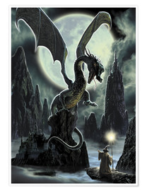 Póster Dragons rock