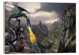 Cuadro de madera  Dragon valley - Dragon Chronicles