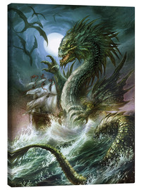 Lienzo  The sea serpent - Dragon Chronicles