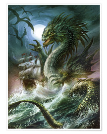 Póster  The sea serpent - Dragon Chronicles
