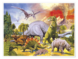 Póster Land of the dinosaurs