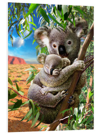 Cuadro de PVC  Koala and cub - Adrian Chesterman