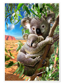 Adrian Chesterman - Koala and cub