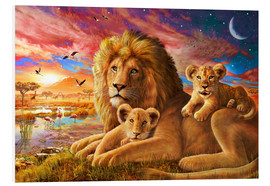 Cuadro de PVC  Lion Sunrise - Adrian Chesterman