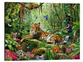 Aluminio-Dibond  Tiger in the Jungle - Adrian Chesterman
