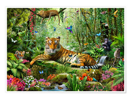 Póster  Tiger in the Jungle - Adrian Chesterman