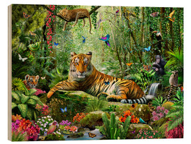 Madera  Tiger in the Jungle - Adrian Chesterman