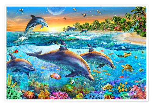 Póster Dolphin bay