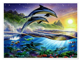 Póster  Atlantic dolphins - Adrian Chesterman