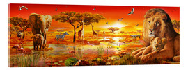 Cuadro de metacrilato  Savanna Sundown - Adrian Chesterman