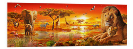 Cuadro de PVC  Savanna Sundown - Adrian Chesterman