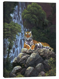 Lienzo  Tiger waterfall - Chris Hiett