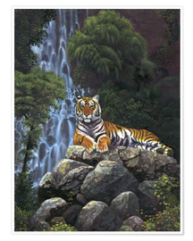 Póster Tiger waterfall