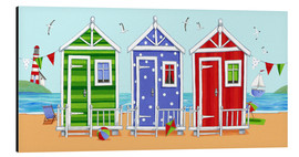 Cuadro de aluminio  Colorful beach huts - Peter Adderley