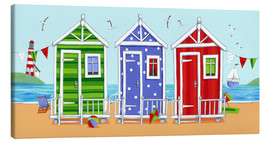 Lienzo  Colorful beach huts - Peter Adderley