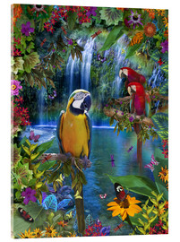 Cuadro de metacrilato  Bird Tropical Land - Alixandra Mullins